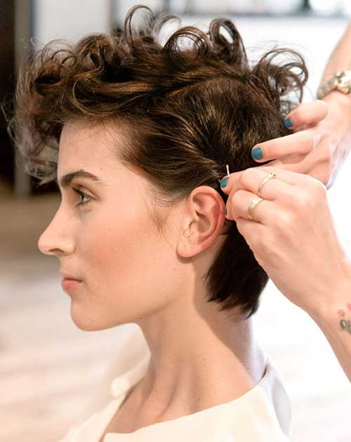 Nice Curly Pixie Hairstyles