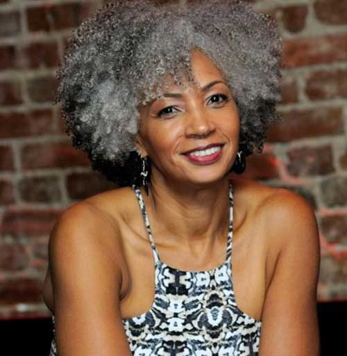 2016 Short Natural Hairstyles for Black Women Over 50