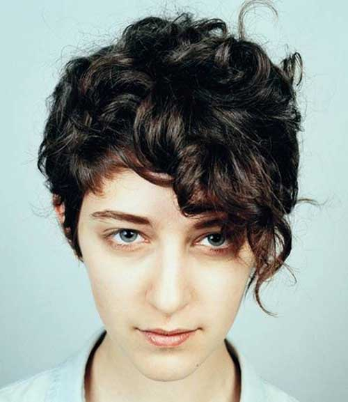 Pixie Cuts for Dark Curly Haired Girls