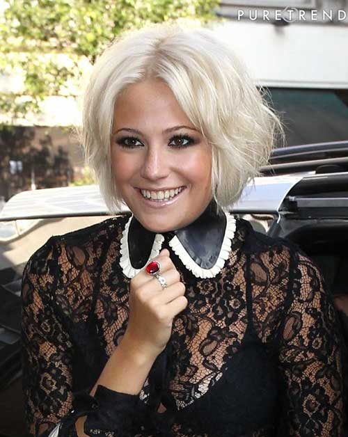 Pixie Lott Blonde Bob Hair