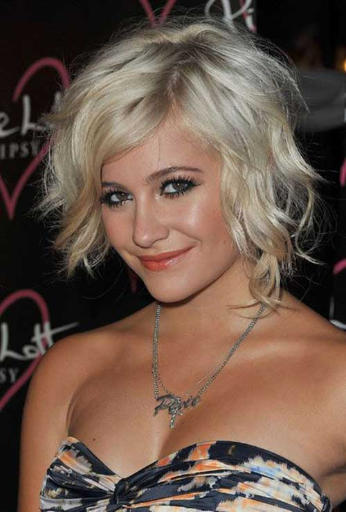 Pixie Lott Short Blonde Hair