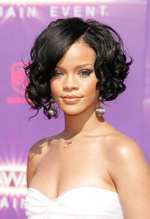 Best Rihanna Short Curly Hair