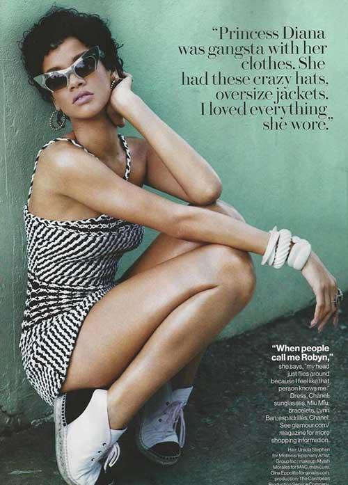 Rihanna Trendy Curly Short Hair Styles