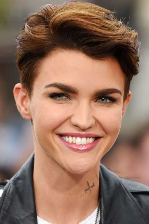 Hairstyles Ruby Rose : 26. Short Straight Blonde Bob Hair Cut