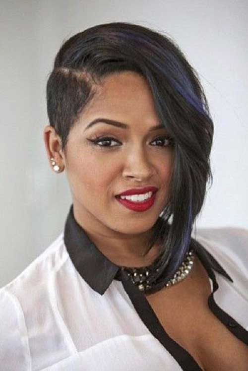 Short Asymmetrical Weave Haircuts for Black Women