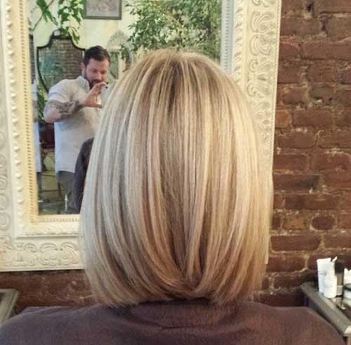 Short Blonde Bob Back View