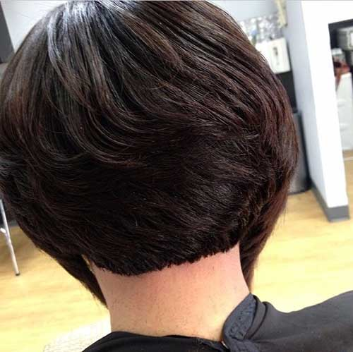 Short Bob Hairstyles Back Black Women