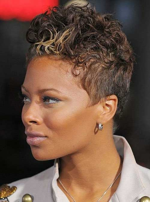Short Curly Afro Pixie Hairstyles