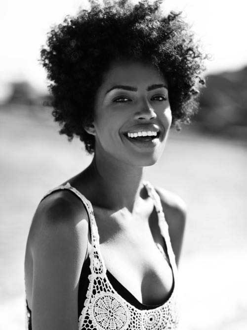 Short Curly Afro Thick Hairstyles