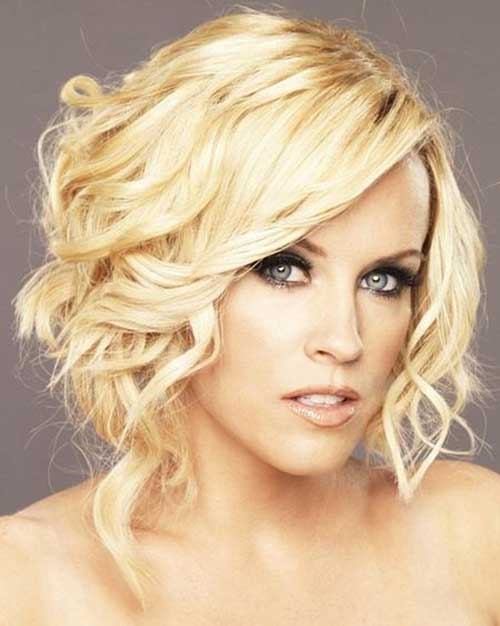Short Curly Blonde Bob Haircuts