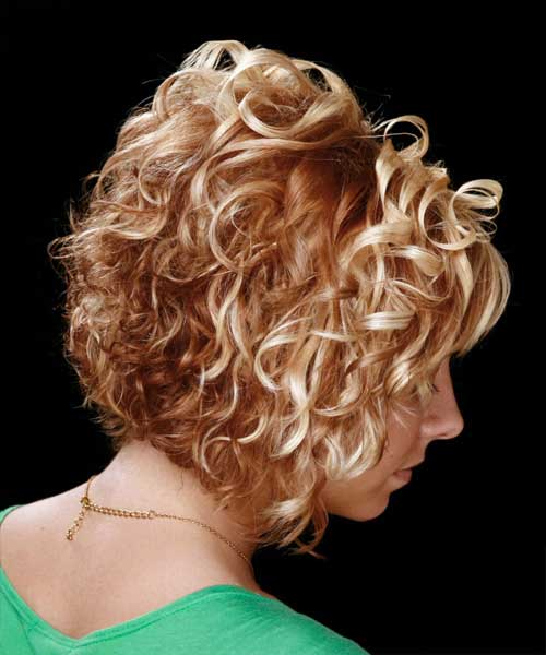 Short Curly Haircuts Back View 2014