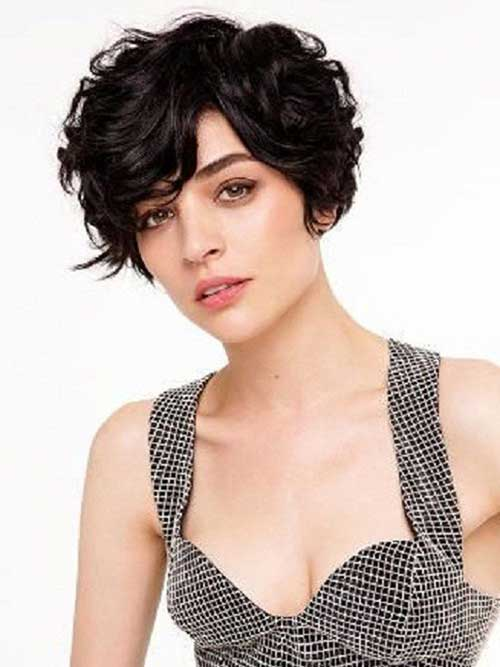 Short Dark Hairstyles for Short Curly Thick Hair