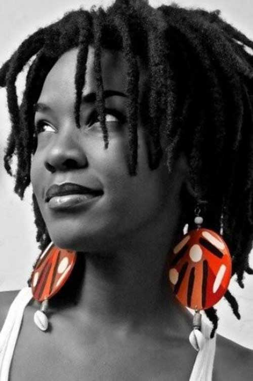 Short Dreads Hairstyles for African American Women