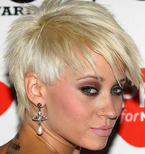 Short Edgy Blonde Pixie Haircuts