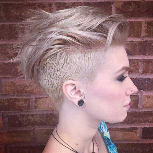 Short Edgy Hair with Side Shaves