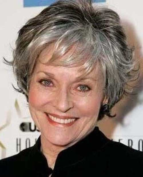 Short Gray Haircuts for Women Over 60