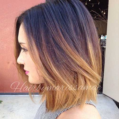 Short Ombre Hair Women