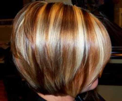 Short Haircut with Lowlights Style Women