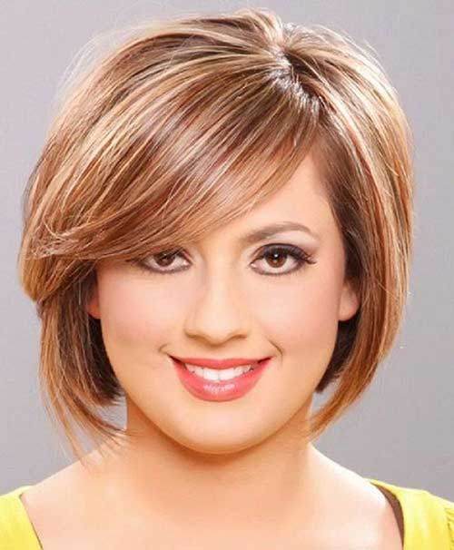 Best Short Haircut for Fat Faced Women