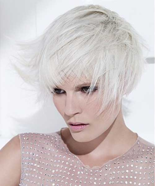 Short Haircuts for White Blonde Hairstyles