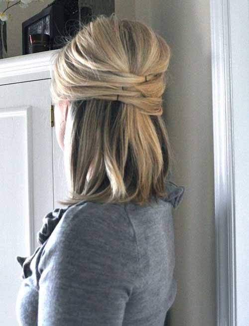 Half Up Short Hairstyles Hair