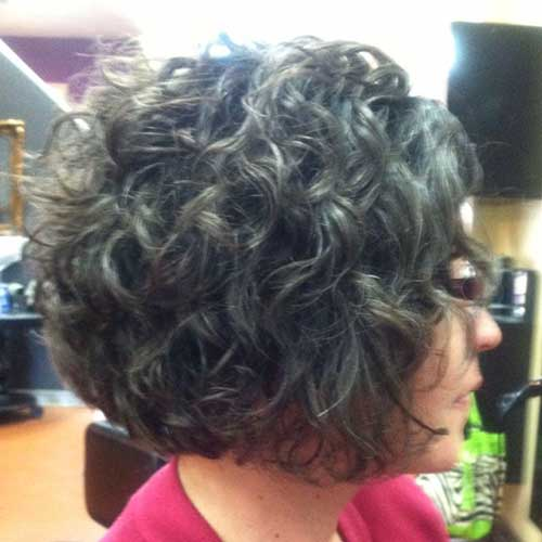 Short Hairstyles for Curly Thick Dark Hair