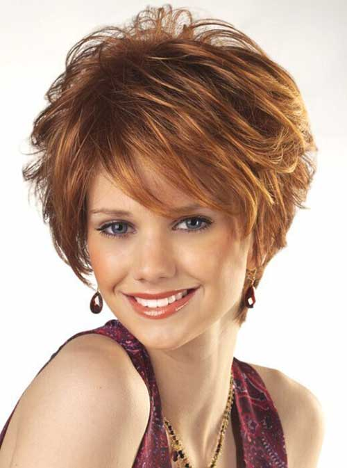 Short Layered Thick Hair Cuts For Women Over 40