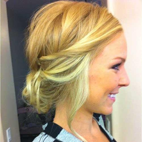 Short Messy Hair Styles Updo
