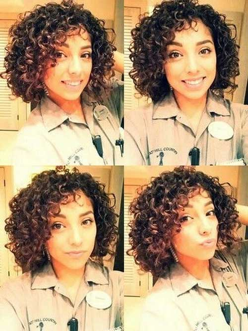 Popular Short Natural Curly Hair for Girls