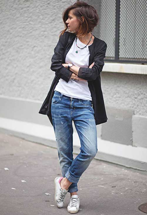 Trendy Short Straight Casual Hairstyles