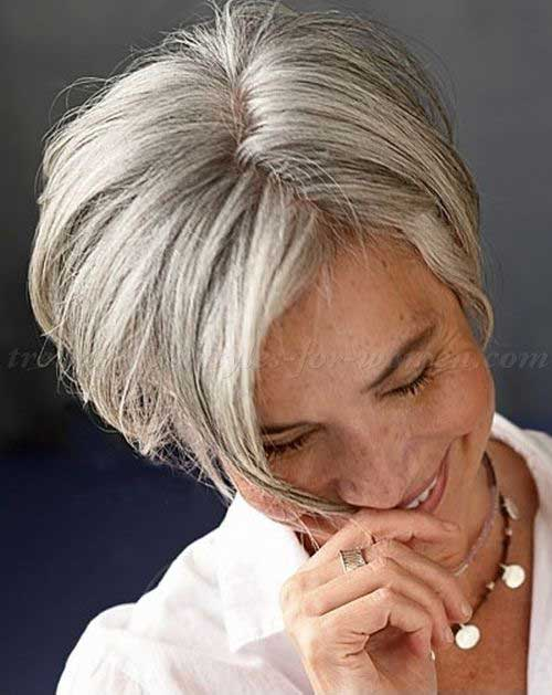 Short Straight Hairstyles for Women Over 60