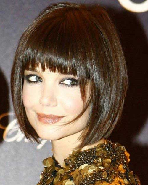 Best Short Straight Hair with Blunt Bangs
