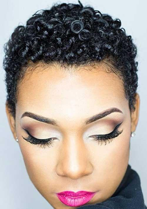 Short Tapered Bob Hairstyle For Black Women