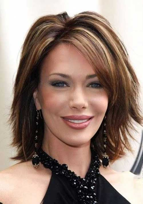 Short Thick Bob Hairstyles For Women Over 40