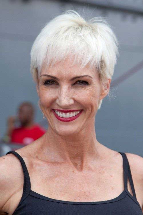 Short White Hairstyles for Women Over 60