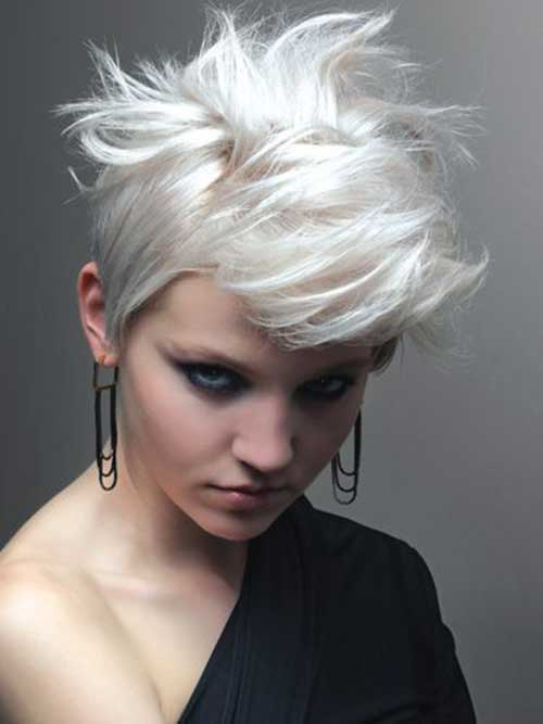 Popular Short White Punk Hair for Women