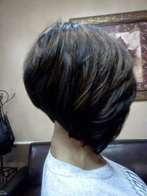 Side View Razor Cut Bob Hairstyles for Black Women