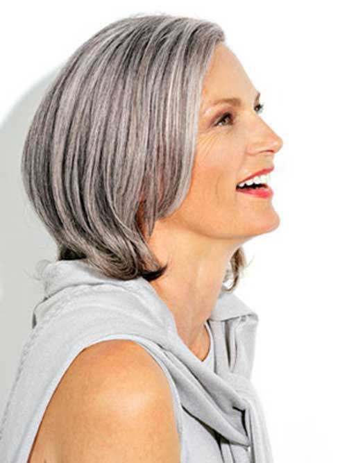 Silver Bob Hairstyles for Older Ladies