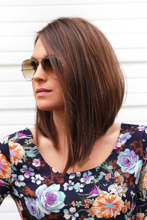 Straight Long Inverted Bob Hairstyles
