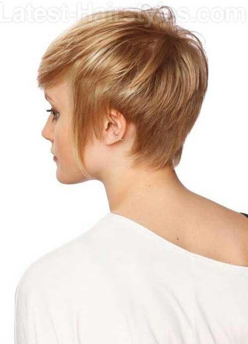Straight Pixie Cut Back View Look