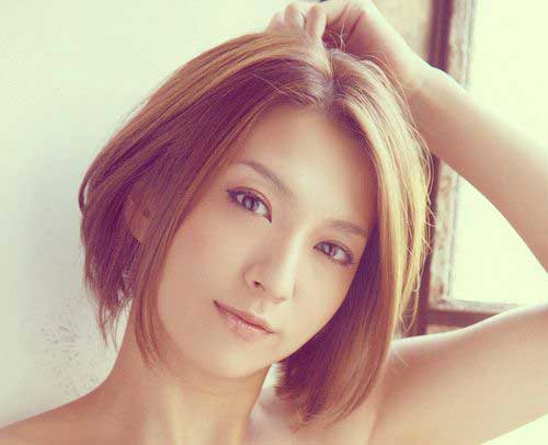 Straight Short Haircuts for Asian Women