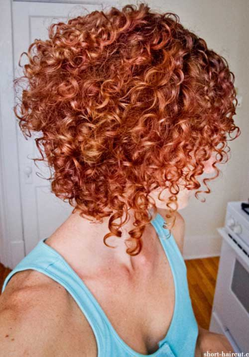 Thick Short Curly Ginger Haircuts 2014
