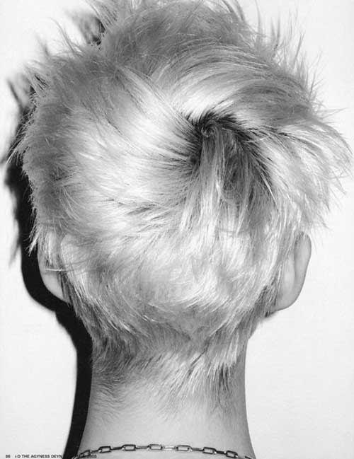 Trendy Pixie Cut Back View Look