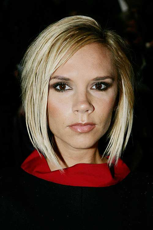 Victoria Beckham Straight Blonde Bob Style Pictures