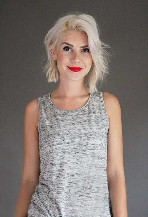 White Blonde Girl's Bob Hairstyles