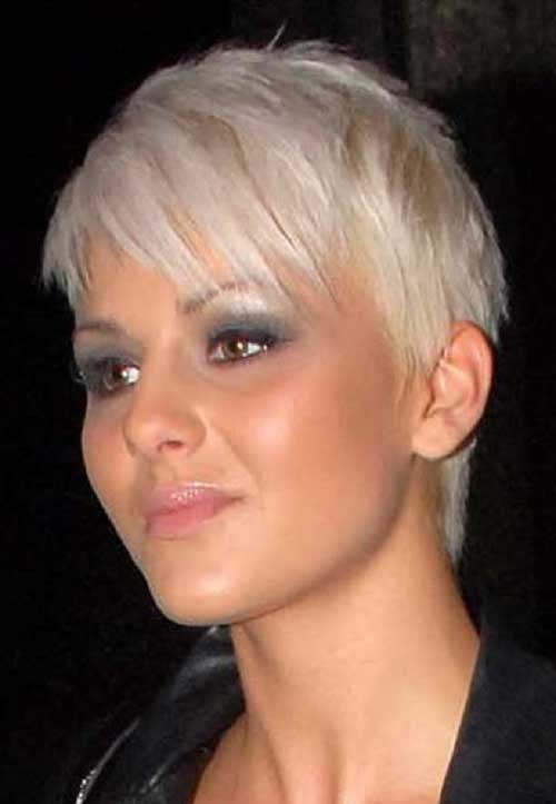 Popular White Hair Short Fine Hairstyle