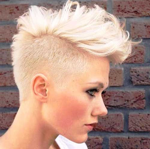 White Mohawk Short Haircuts
