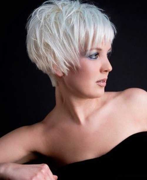 White Pixie Haircuts