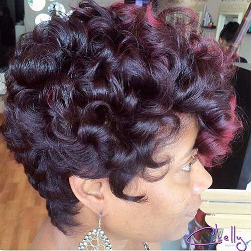 Hairstyles for Short Curly Hair-18