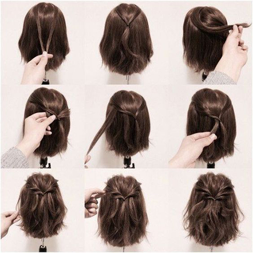 Easy Hairstyles For Short Hair-6